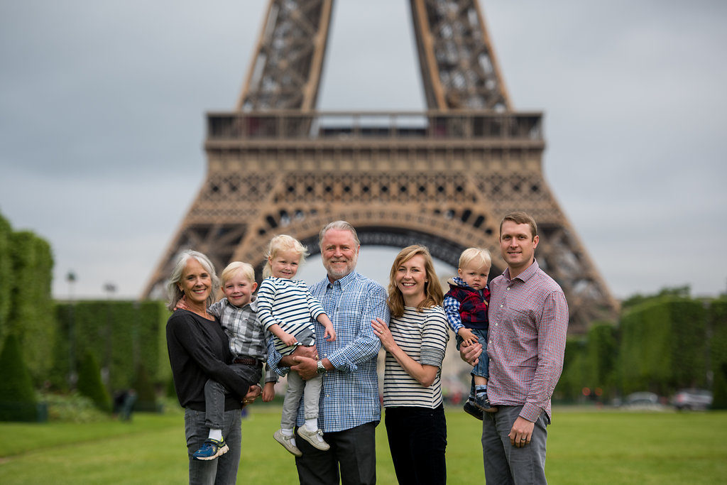 Family Photos at Champ de Mars Park - Pictours™ Paris Photography